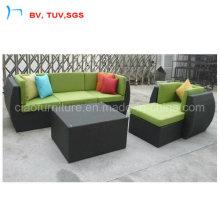Black and Greed Sofa Furniture Sofa Set (CF701)