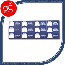 Etiqueta de vestuário Etiqueta de rótulo Etiqueta de vestuário Etiqueta de vestuário