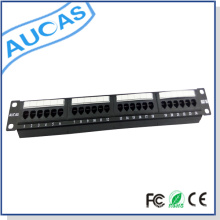 Cat6 Wallmount Rackmount / keystone snap-in blank patch panel / snagless blindé de gestion des câbles