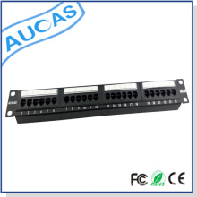 cat6 Wallmount Rackmount /keystone snap-in blank patch panel / snagless shielded cable management