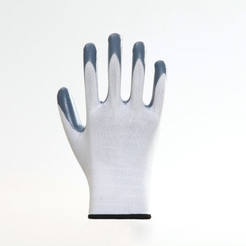 Polyester Shell Nitrile Coated Safety Work Glove