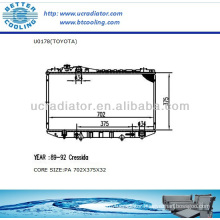 Auto Radiator For TOYOTA CRESSIDA 89-92 3.0L L6 AT OEM:1640043250 1640073041 1640070341