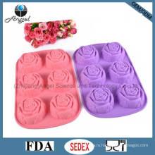 Горячий инструмент для выпечки силиконового торта BPA Free Rose Sc41