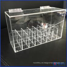 Acrílico Lipstick Organizador A prueba de polvo Lipgloss titular de la caja Maquillaje de almacenamiento Beauté Container