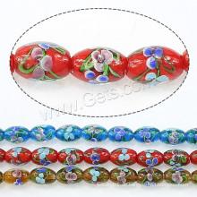 2015 Gets.com Lampwork Perlen, Lampwork Perlen, Oval, mehr Farben für die Wahl