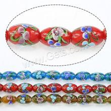 2015 Gets.com perles lampwork, perles Lampwork, ovales, plus de couleurs pour le choix