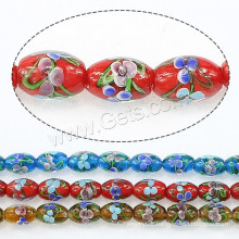 2015 Gets.com lampwork beads, Lampwork Beads, Oval, more colors for choice