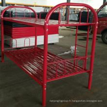 Mobilier scolaire métal lit étudiants ues couleur rouge lit superposé