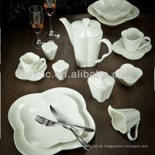 louças de série branca de linha mais vendido, conjunto de jantar de porcelana, prato de porcelana de restaurante