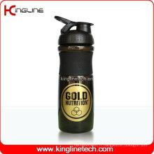 Bouteille de mélangeur en plastique de 750 ml avec boule de mélangeur en acier inoxydable (KL-7063)