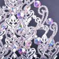 """Gorgeous 30"""" large tall beauty pageant crown with ab crystal pageant round crowns"""