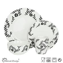 Ensemble de dîner en porcelaine avec décalque quotidienne populaire 16PCS