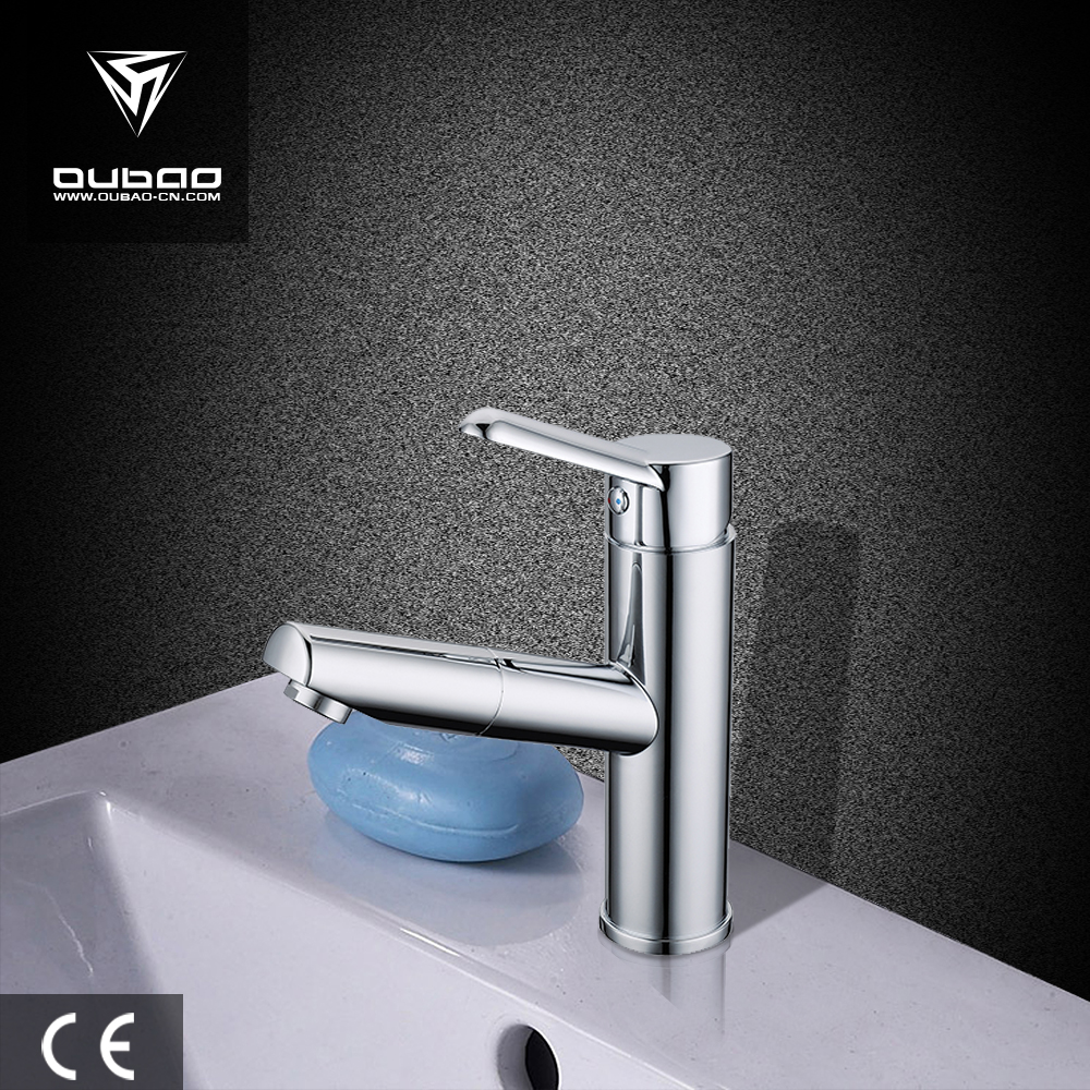 Basin faucet pull out