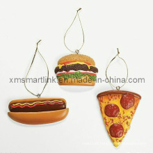 Bread Hanging Decoration for Christmas, Xms Hanging Baubles Polyresin Figurine,