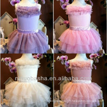 Lovely Tulle Tiered Mini bretelles courtes robe de mariée Robe de mariée