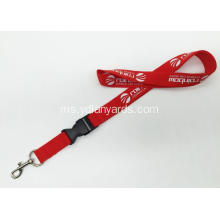 Neck Promotion One Warna Silk Screen Lanyard