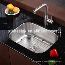 CUPC aço inoxidável Undermounted SUS 304 pia tigela única cozinha, pia Bar