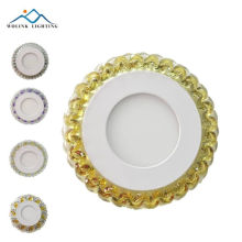 new products square crystal model round led two color panel 3+3W