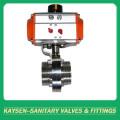 SMS Sanitary Aluminium Pneumatic Threaded Butterfly Valve