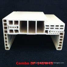 Einfach zu installierender und einstellbarer WPC-Türrahmen-Architrav Df-140W45