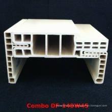 Fácilmente instalado y ajustable WPC puerta Framewpc Architrave Df-140W45