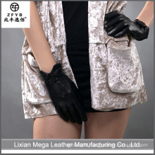 China supplier Short Driving Cowhide Leather Gloves