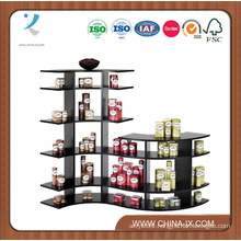 5′ Wide Stepped Contour Wooden Display Rack