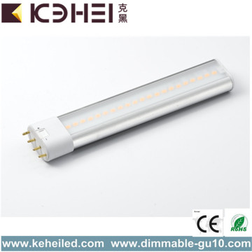 Tube de 2G11 7W 4000K LED remplacent 18W CFL