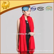Mantones de seda puros del color rojo del mantón suave hermoso del abrigo de las nuevas mujeres 100%