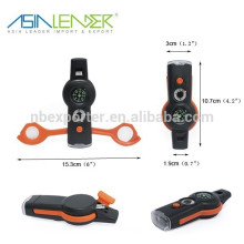Nouvelle conception 7 Fonctions Survival Emergency LED Flashing Whistle Light