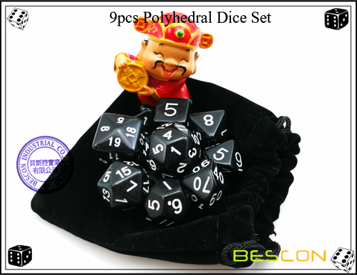 9pcs Polyhedral Dice Set-26