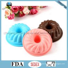100% de grado alimenticio molde de silicona para la torta, el mollete, el pudding, la jalea y el jabón Sc02