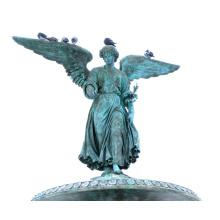 2018 artesanías de metal de alta calidad de bronce alado estatua del ángel