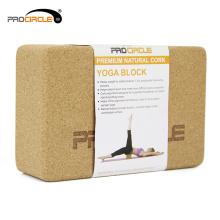 Procircle 15 * 22 madeira cor cortiça Yoga Block fabricantes