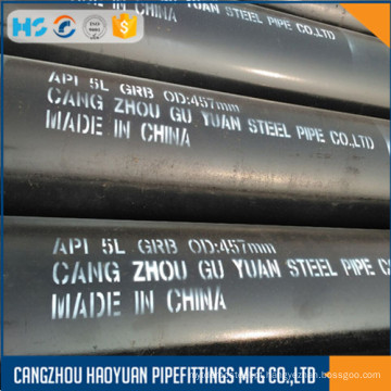 ASTM A106 Gr.B SCH60 sem costura Ms Black Pipe