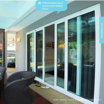 Цена от производителя Последний новый дизайн Раздвижные двери UPVC / Внешняя пластиковая дверь