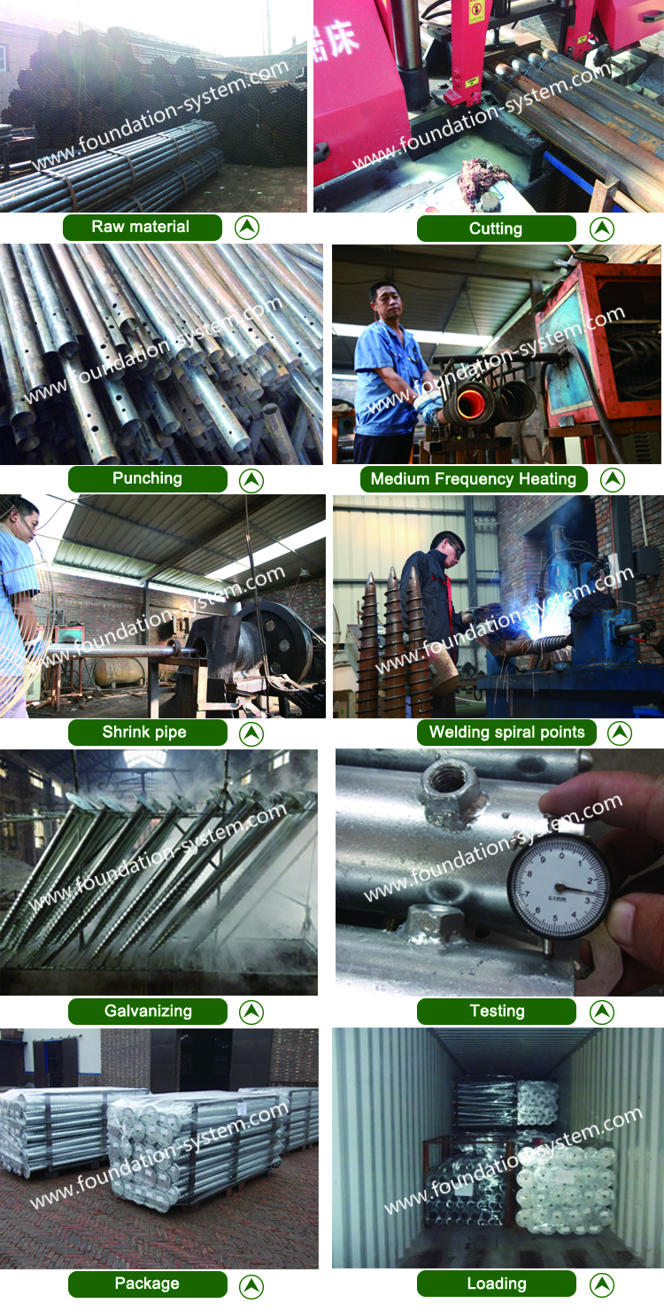 Hot Galvanized Screw Pole