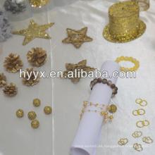 Clavija de madera con pizarra / decoración de la clavija / anillo de servilleta de la forma del ala
