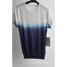 2016new moda algodão manga curta homens camisola