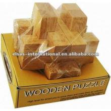 Puzzle en bois Luban Key, style luxe