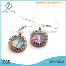 Wholesale open locket earrings, memory magnetic floating charms earrings design
