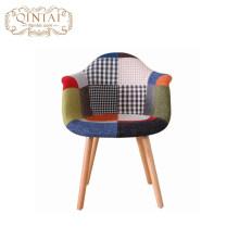 Горячие продажи Лоскутное Ткань Чехол Досуг Пластиковый досуг деревянная ткань столовая Кресла