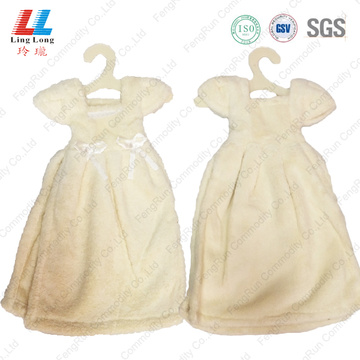 White beautiful dress hand dry towel