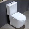 Керамическая ванная комната Белый цвет Двухкомпонентный керамический туалет