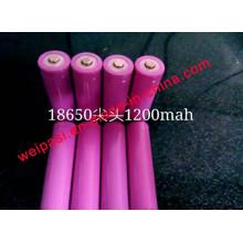 3.7V1000mAh, bateria de lítio, Li-ion 18650, cilíndrica, recarregável