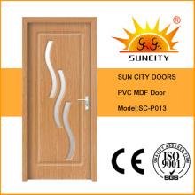 Porta interior econômica da superfície do PVC