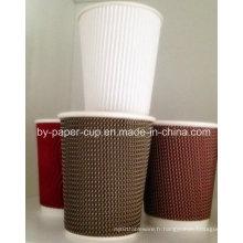 Vente chaude de tasses en papier ondulé en bonne qualité