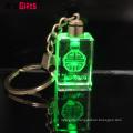 Wholesale Custom Bulk Blank 3D Laser Led Glass Crystal Wedding Souvenir Keychain