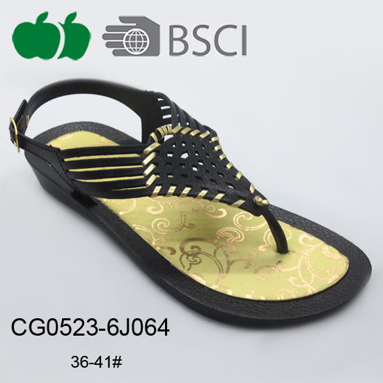 latest fashion women plastic sandals