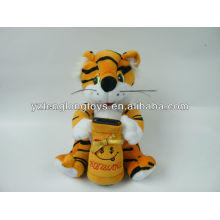 Cute and lovely stuffed plush tiger money pot